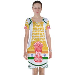 Seal of Indian State of Tamil Nadu  Short Sleeve Nightdress