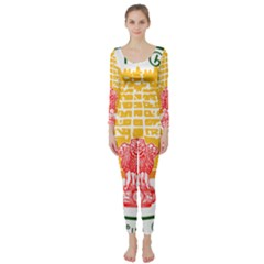 Seal of Indian State of Tamil Nadu  Long Sleeve Catsuit