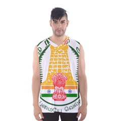 Seal of Indian State of Tamil Nadu  Men s Basketball Tank Top