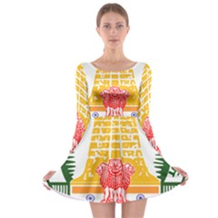 Seal of Indian State of Tamil Nadu  Long Sleeve Skater Dress