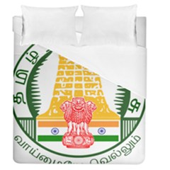 Seal of Indian State of Tamil Nadu  Duvet Cover (Queen Size)