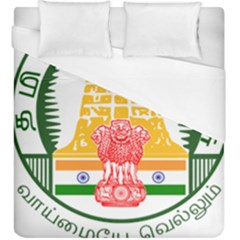 Seal of Indian State of Tamil Nadu  Duvet Cover (King Size)
