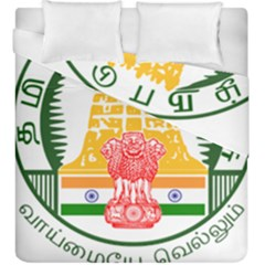 Seal of Indian State of Tamil Nadu  Duvet Cover Double Side (King Size)