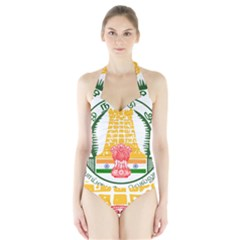 Seal of Indian State of Tamil Nadu  Halter Swimsuit