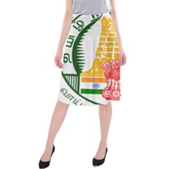 Seal of Indian State of Tamil Nadu  Midi Beach Skirt