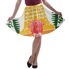 Seal of Indian State of Tamil Nadu  A-line Skater Skirt
