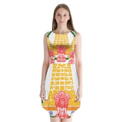 Seal of Indian State of Tamil Nadu  Sleeveless Chiffon Dress