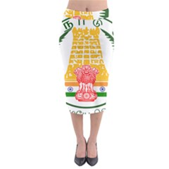 Seal of Indian State of Tamil Nadu  Midi Pencil Skirt