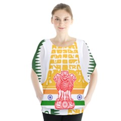Seal of Indian State of Tamil Nadu  Blouse