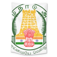 Seal of Indian State of Tamil Nadu  Large Tapestry