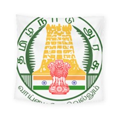 Seal of Indian State of Tamil Nadu  Square Tapestry (Small)