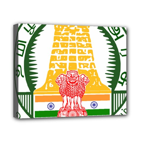Seal of Indian State of Tamil Nadu  Canvas 10  x 8