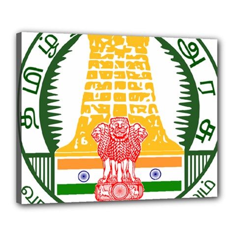Seal of Indian State of Tamil Nadu  Canvas 20  x 16