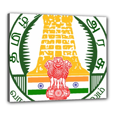 Seal of Indian State of Tamil Nadu  Canvas 24  x 20