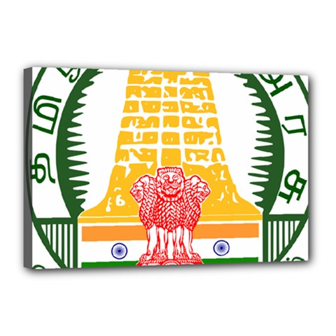 Seal of Indian State of Tamil Nadu  Canvas 18  x 12