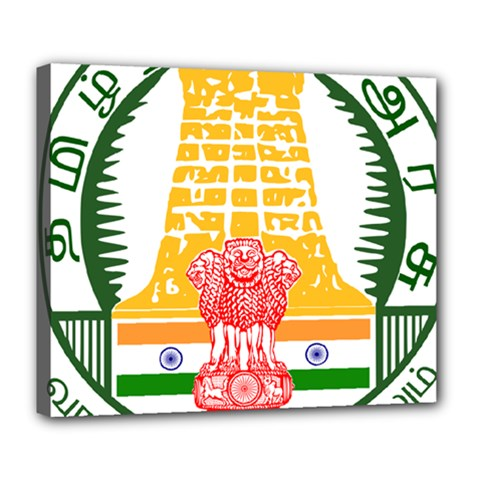 Seal of Indian State of Tamil Nadu  Deluxe Canvas 24  x 20