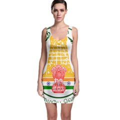 Seal of Indian State of Tamil Nadu  Sleeveless Bodycon Dress