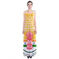 Seal of Indian State of Tamil Nadu  Sleeveless Maxi Dress