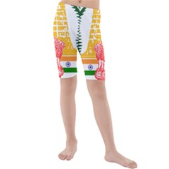 Seal of Indian State of Tamil Nadu  Kids  Mid Length Swim Shorts