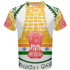 Seal of Indian State of Tamil Nadu  Men s Cotton Tee