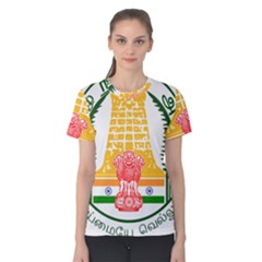Seal of Indian State of Tamil Nadu  Women s Cotton Tee