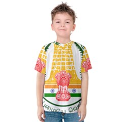 Seal of Indian State of Tamil Nadu  Kids  Cotton Tee