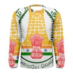 Seal of Indian State of Tamil Nadu  Men s Long Sleeve Tee
