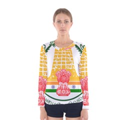 Seal of Indian State of Tamil Nadu  Women s Long Sleeve Tee