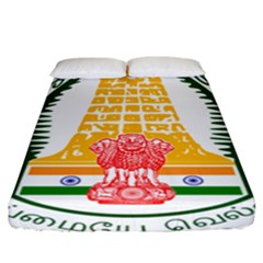 Seal of Indian State of Tamil Nadu  Fitted Sheet (California King Size)
