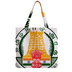 Seal of Indian State of Tamil Nadu  Zipper Grocery Tote Bag