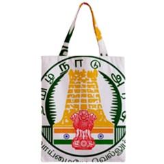 Seal of Indian State of Tamil Nadu  Zipper Classic Tote Bag