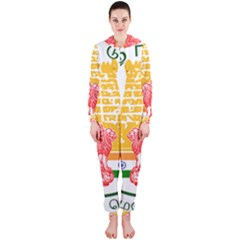 Seal of Indian State of Tamil Nadu  Hooded Jumpsuit (Ladies)