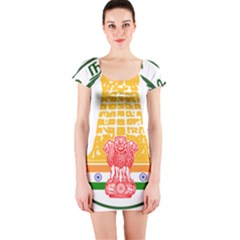 Seal of Indian State of Tamil Nadu  Short Sleeve Bodycon Dress