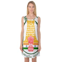 Seal of Indian State of Tamil Nadu  Sleeveless Satin Nightdress