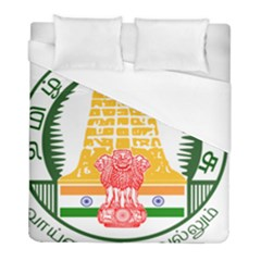Seal of Indian State of Tamil Nadu  Duvet Cover (Full/ Double Size)
