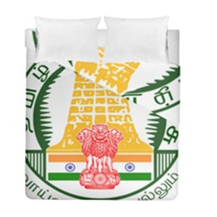 Seal of Indian State of Tamil Nadu  Duvet Cover Double Side (Full/ Double Size)