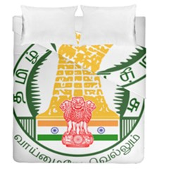 Seal of Indian State of Tamil Nadu  Duvet Cover Double Side (Queen Size)