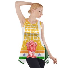 Seal of Indian State of Tamil Nadu  Side Drop Tank Tunic