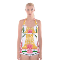 Seal of Indian State of Tamil Nadu  Boyleg Halter Swimsuit