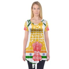 Seal of Indian State of Tamil Nadu  Short Sleeve Tunic