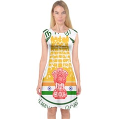 Seal of Indian State of Tamil Nadu  Capsleeve Midi Dress