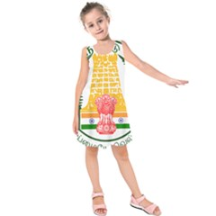 Seal of Indian State of Tamil Nadu  Kids  Sleeveless Dress