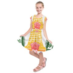 Seal of Indian State of Tamil Nadu  Kids  Short Sleeve Dress