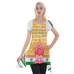 Seal of Indian State of Tamil Nadu  Short Sleeve Side Drop Tunic