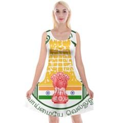 Seal of Indian State of Tamil Nadu  Reversible Velvet Sleeveless Dress