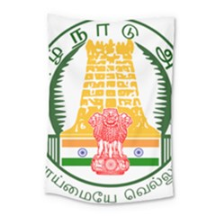 Seal of Indian State of Tamil Nadu  Small Tapestry