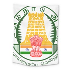 Seal of Indian State of Tamil Nadu  Medium Tapestry