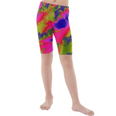 Sky pattern Kids  Mid Length Swim Shorts