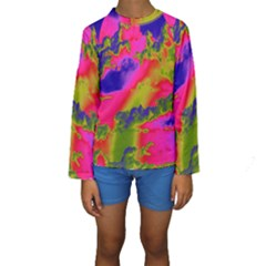Sky pattern Kids  Long Sleeve Swimwear