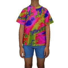 Sky pattern Kids  Short Sleeve Swimwear